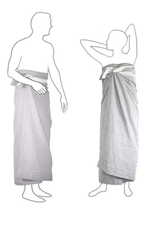 Großes Handtuch für Wellness, Sauna oder Bad