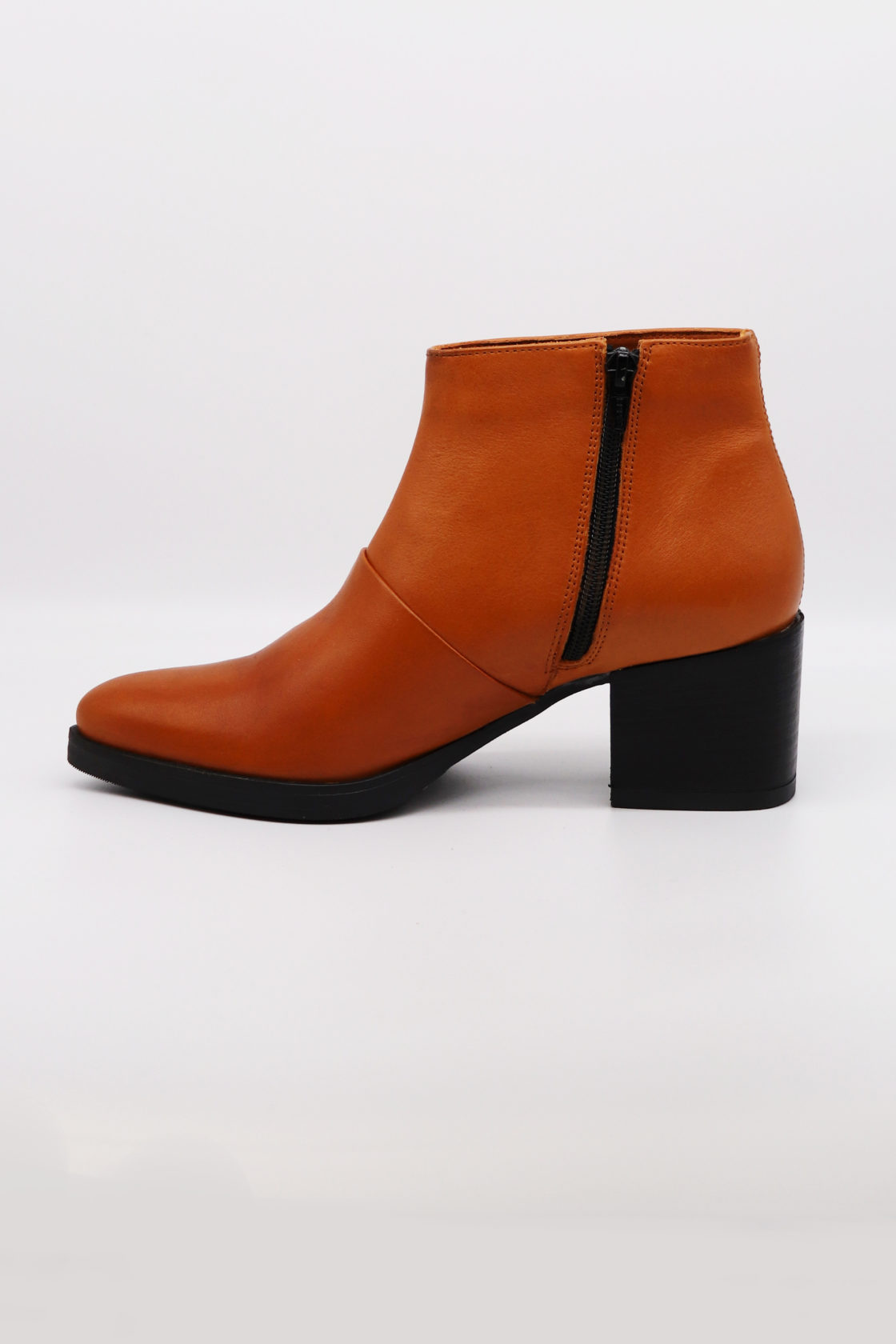 Roberta Organic Fashion Werner Ankle Boots Cognac 2