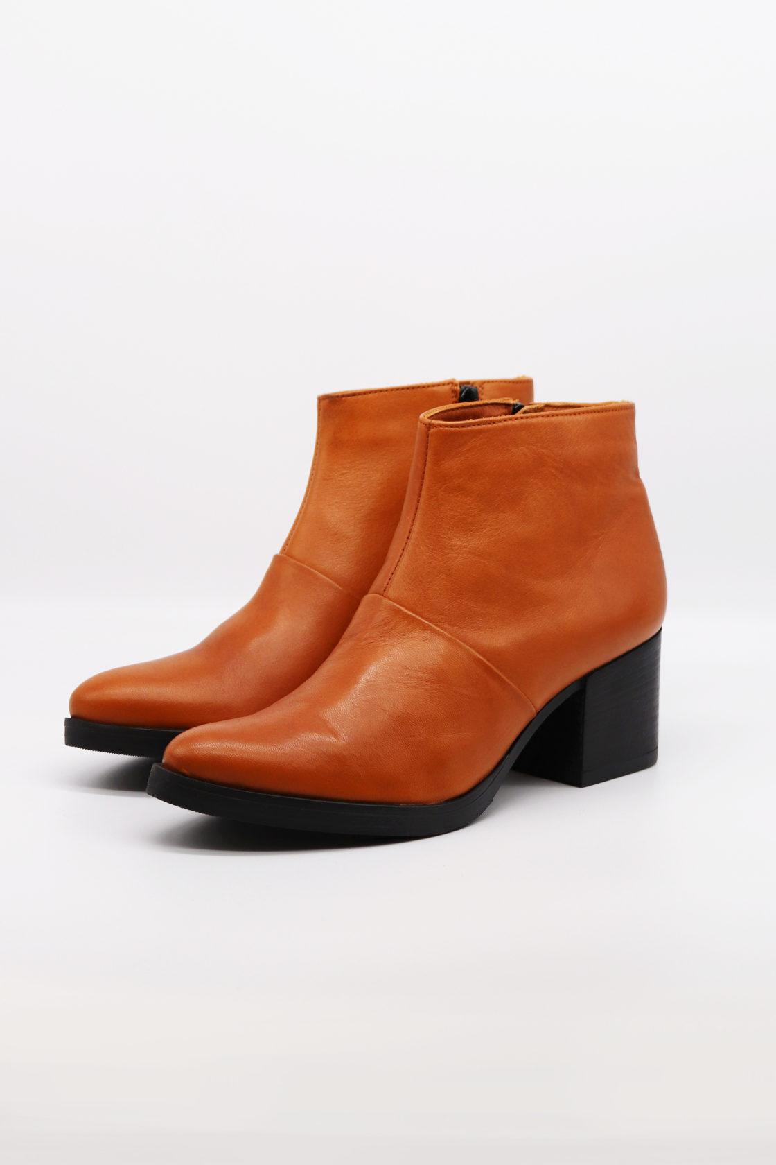 Roberta Organic Fashion Werner Ankle Boots Cognac 4