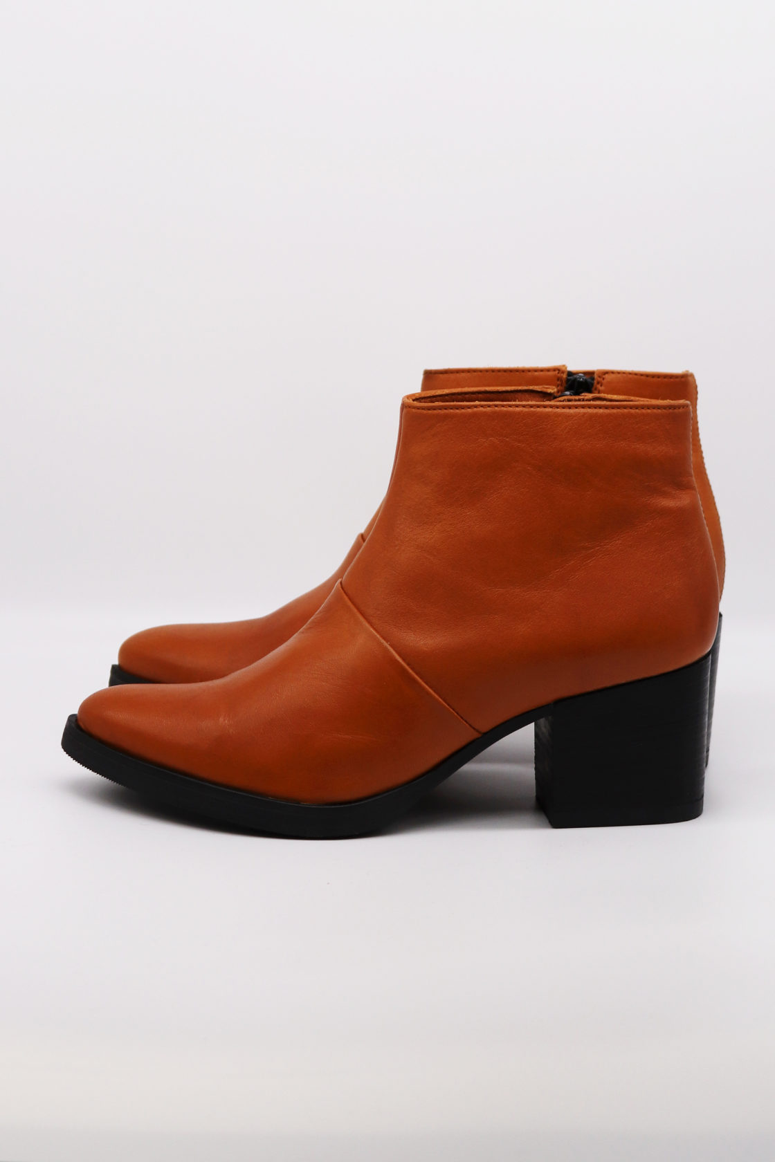 Roberta Organic Fashion Werner Ankle Boots Cognac 5