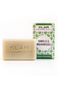 Klar Seifen - veganes, festes Shampoo mit Kamille und Brennessel