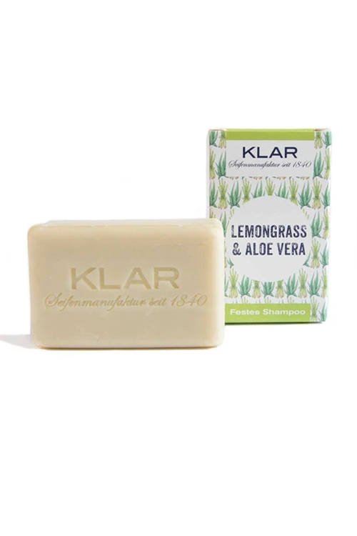 Klar Seifen - veganes, festes Shampoo mit Aloe und Lemongrass