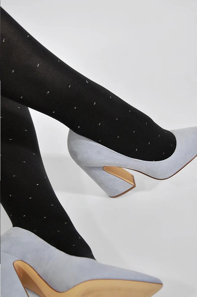 Roberta Organic Fashion Swedish Stockings Filippa Dots Schwarz 3