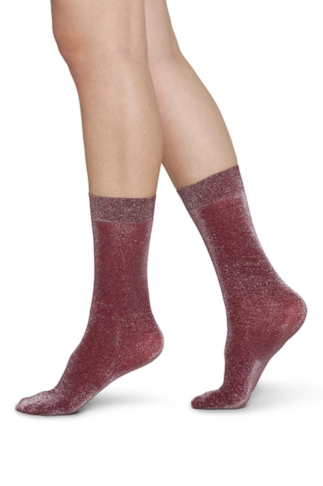 Roberta Organic Fashion Swedish Stockings Ines Shimmery Socken