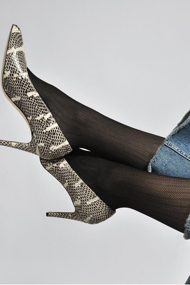 roberta organic fashion swedish stockings Nina fishbone Strumpfhose